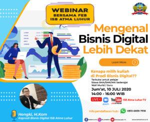Mengenal Bisnis Digital Lebih Dekat – ISB Atma Luhur